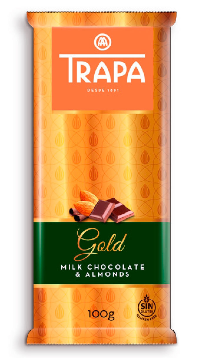 Gold chocolate with almond